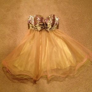 Dresses & Skirts - Cinderella pink and green prom/ formal dress