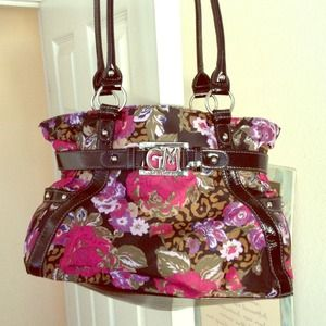 Gia Milani Handbags - Leather & Floral Purse