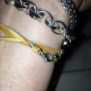 Jewelry - Sideways cross wrap bracelet.