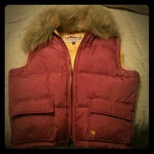 Hollister Outerwear - Hollister vest with fur collar