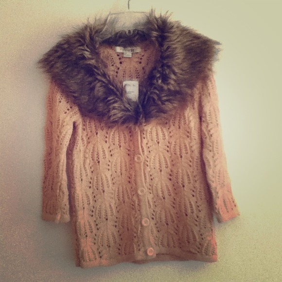 Forever 21 Sweaters - Brand New Fur Sweater Cardigan