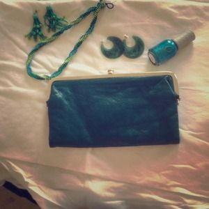 Urban Outfitters Clutches & Wallets - Teal clutch. Perfect for the trendy party girl!