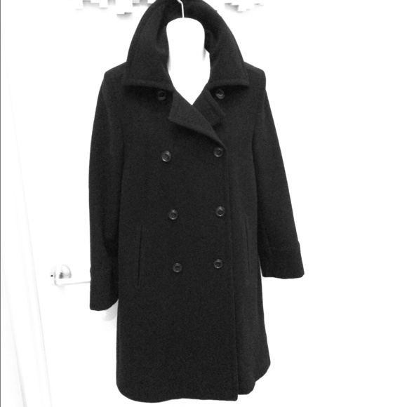 Cole Haan Outerwear - Black camel hair coat