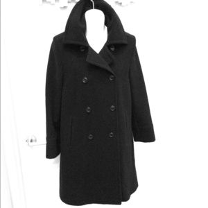 Black camel hair coat