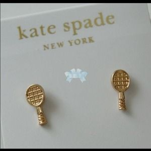 Kate spade tennis racket earrings