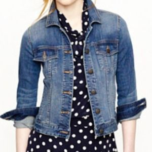 J. Crew can't live without it stretch denim coat.