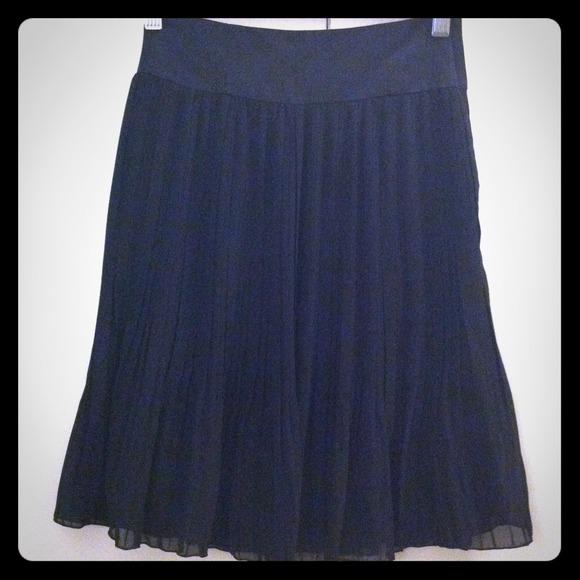 48 h m dresses skirts navy blue chiffon skirt