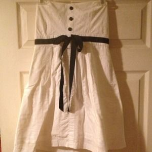 Forever 21 white and black nautical style dress