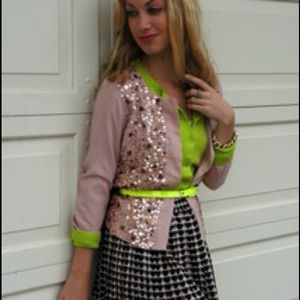 Reduced! Sequin woven cardigan