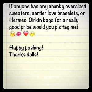 Other - Not selling.. ISO the items listed above! 😘💋