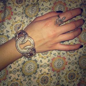 Gold circle bangle