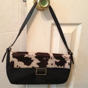 Handbags - Nylon and cowhide small bag with handle
