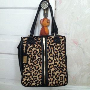 Authentic vintage Badgley Mischka leopard bag