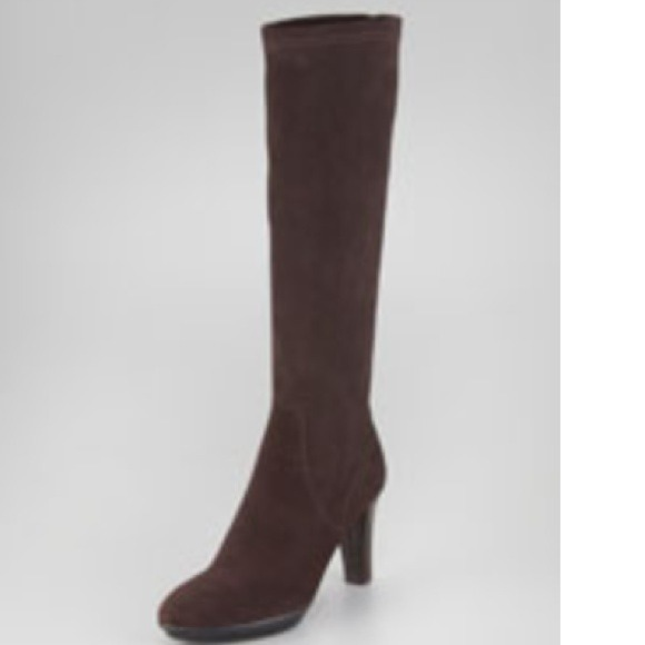 Aquatalia Boots - Aquatalia brown stretch waterproof suede boots.