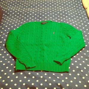 Ralph Lauren Sweater Bundle (green/pink)