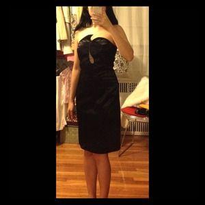 NEW Black Strapless Swirl Dress