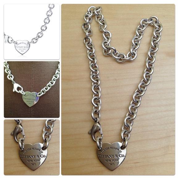 e705beedb Tiffany & Co. Jewelry | Return To Tiffanyheart Tag Choker | Poshmark