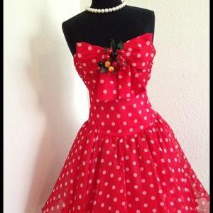 Vintage 60's Cherry Dress.