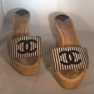 CHANEL Shoes - Chanel wedge sandals