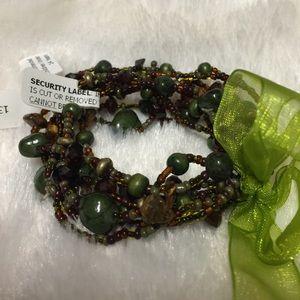 Jewelry - Earth tone beaded bracelet