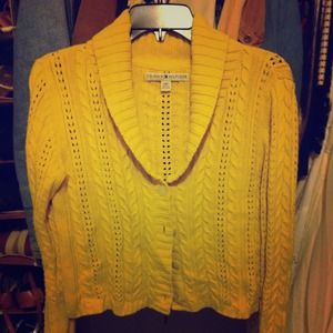Yellow Tommy Hilfiger knit sweater