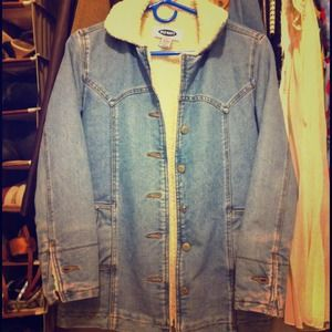 Denim Sherpa jacket!!