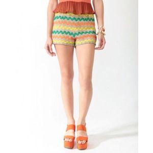 Forever 21 Shorts - 🚫SOLD🚫F21 Crochet Zigzag Shorts