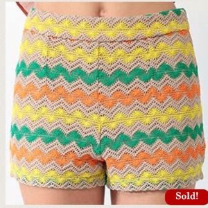 Forever 21 Pants - 🚫SOLD🚫F21 Crochet Zigzag Shorts