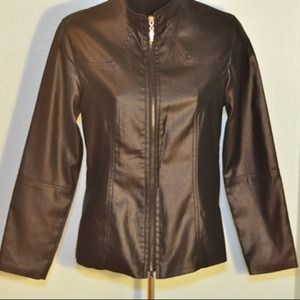Jackets & Blazers - Faux Leather Jacket