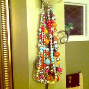 Multi colored beaded necklace~
