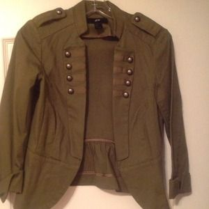 RESERVED: H&M Army Green Military Jacket