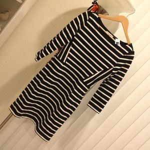 GAP Dresses & Skirts - GAP classic striped dress size small boat neck!