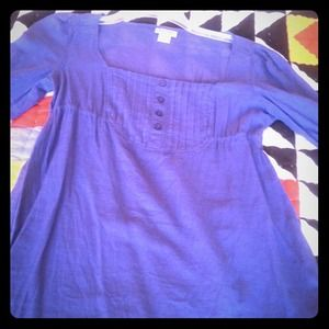 Blue Flowy blouse