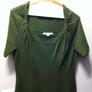 BR olive green sweater dress