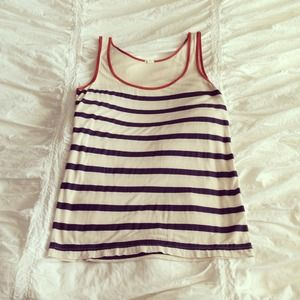 J. Crew Tops - J Crew Striped Tank