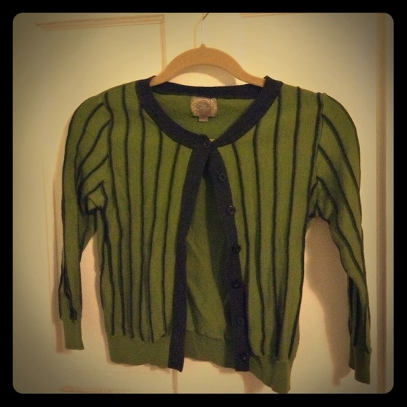 Forever 21 Sweaters - *REDUCED* Olive & grey striped cardigan