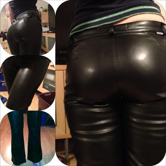 Mavi Pants  On Holdnwot Vegan Leather Sexy Club Booty -6535