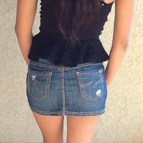 Nissi Jeans - REDUCED Denim mini skirt from Jocelyn's closet on ...