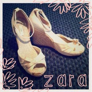 ZARA Wedges in White