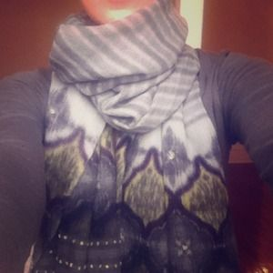 Jaipur Accessories - 100% Lana Wool Ikat Scarf