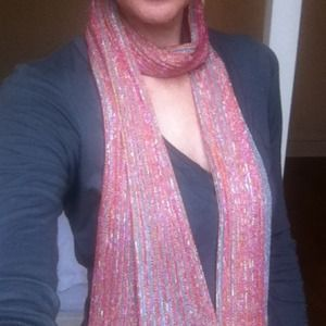 100% Authentic Missoni Metallic Skinny Scarf