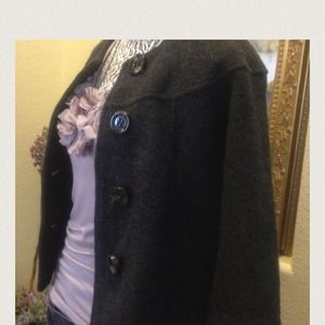 New - merino wool jacket with big buttons.