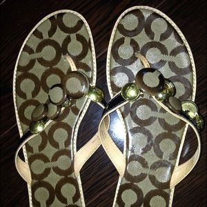 New in box Coach Sandals 8.5
