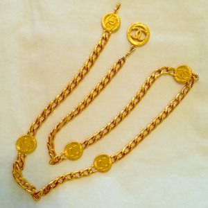 CHANEL Gold Coin Link Belt