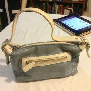 Coach Powder Blue / Beige Trim Handbag