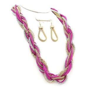 Jewelry - 👇👇👇Gorgeous Braided Chain Necklace/Earring Set