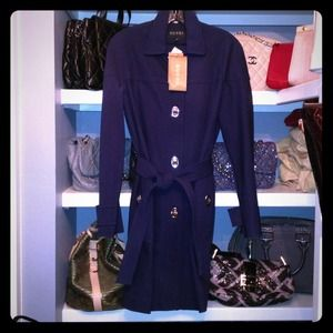 Authentic GUCCI navy blue heavy trench coat