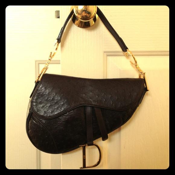 96525c7e156e Dior Handbags - Christian Dior  mini saddle bag -ostrich!