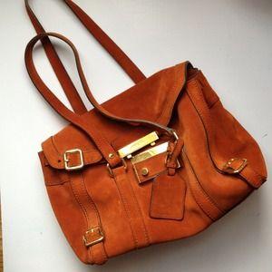 77% off Prada Handbags - Vintage Orange suede Prada bag from ...