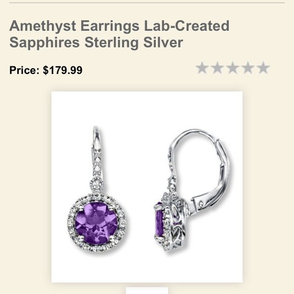 Jareds Jewelry Amethyst Earrings Poshmark